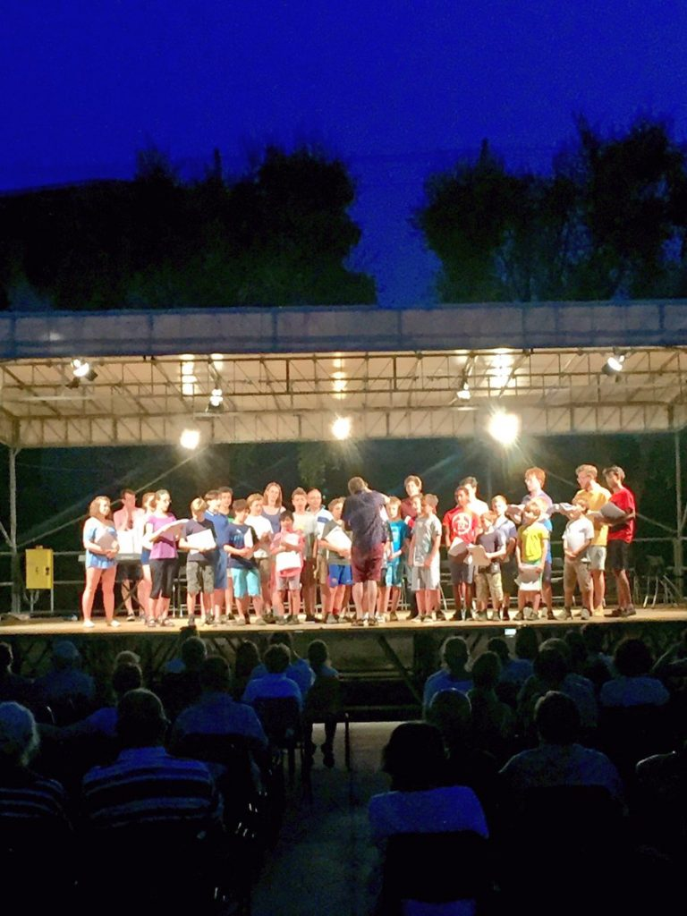 An outdoor concert in Bodighera